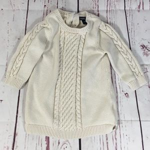 Baby GAP Cream Cable Knit Tunic Sweater